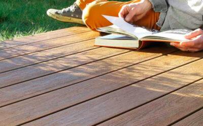 Tarima exterior de madera técnica o composite de Fiberdeck